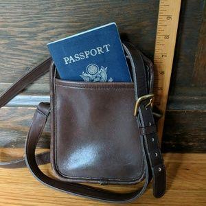 Coach Kit Camera bag 9973 Dark brown crossbody